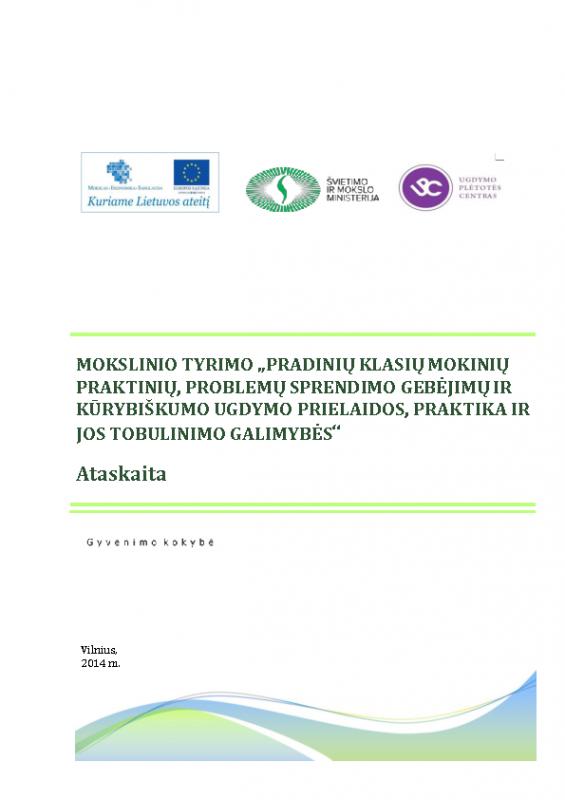 Pradinio ugdymo tobulinimas (Mokslinio tyrimo ataskaita 2014)